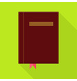 Flat Book with Bookmark and Long Shadow vector image vector image