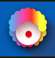 funny clown with colorful rainbow hair wig 1 vector image vector image