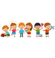 funny kids isolated vector image vector image