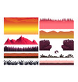 game cartoon elements set with pieces of fantasy vector image vector image