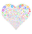 gear fireworks heart vector image vector image