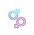 gender icons on white line vector image vector image