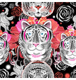 graphic pattern tigers vector image vector image