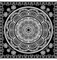 greek mandala panel pattern vector image