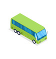green bus isolated isometric 3d icon vector image vector image