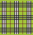 green modern plaid pattern with red lines pattern vector image vector image