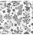 grey floral seamless pattern design vector image vector image