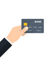 hand holding credit card vector image vector image