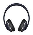 headphones icon realistic style vector image vector image
