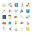 health checkup flat icons vector image
