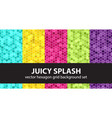 hexagon pattern set juicy splash seamless vector image vector image