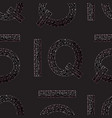 iq hand drawn sign seamless pattern vector image vector image