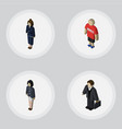 isometric human set of guy businesswoman girl vector image vector image