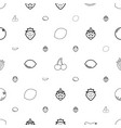 juicy icons pattern seamless white background vector image vector image