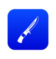 knife icon digital blue vector image vector image