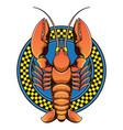 lobster restaurant logo vector image