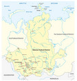 map russian siberian federal district vector image vector image