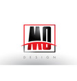mo m o logo letters with red and black colors and vector image vector image