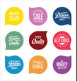 modern sale badges collection 11 vector image vector image