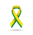 modern yellow green ribbon vector image