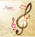 music notes background festival instrument song vector image vector image