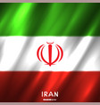 national iran flag background vector image vector image