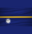 nauru flag flag of nauru blowig in the wind eps vector image vector image
