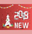 new year flat design concept for greeting card vector image