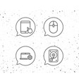notebook hard disk drive and tablet pc icons vector image