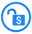 open banking lock rounded grainy icon vector image