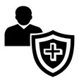 patient protection icon simple black style vector image vector image