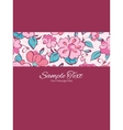 pink blue kimono flowers stripe frame vector image vector image