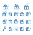 Property and House Insurance Icon Set vector image vector image