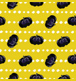 pumpkin decorative seamless yellow pattern vector image