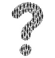 question mosaic of person icons vector image vector image
