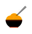 ramen chinese traditional noodles asian food vector image