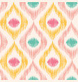 retro ikat pattern vector image vector image
