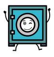safe box kawaii character vector image vector image