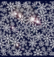 seamless navy blue background with snowflakes vector image vector image