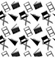 seamless pattern film movie chair megaphone and vector image vector image