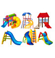 set of playground equipment vector image vector image