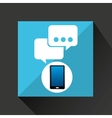 smartphone bubble chat social network media icon vector image vector image