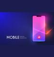 smartphone mockup realistic mobile phone display vector image