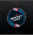 space rocket ship logo vector image