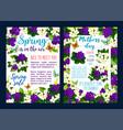 spring sale banner of springtime season template vector image vector image