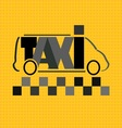 taxi bus vector image vector image