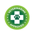 vet approved round icon badge logo