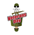 Veterans Day US Army soldier and war heros grave vector image vector image