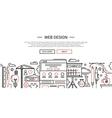 Web Design - line website banner temlate vector image vector image