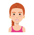 woman with sport wear vector image
